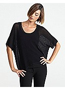 Scoop Neck Box-Top in Washable Wool Crepe Open Waffle