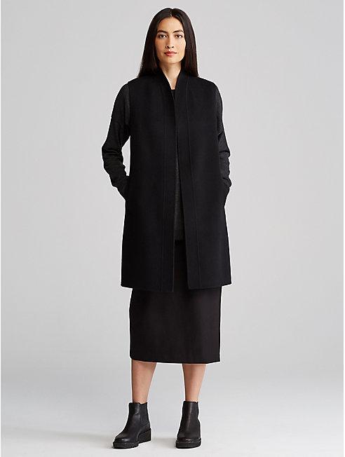 Brushed Wool Kimono Vest