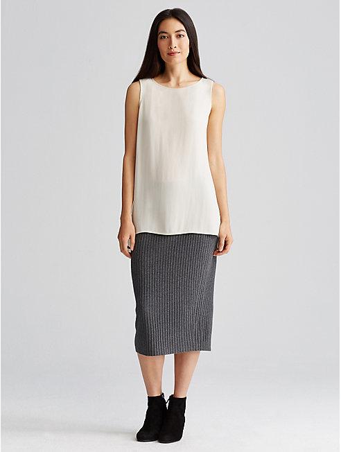 Cozy Wool Rib Pencil Skirt