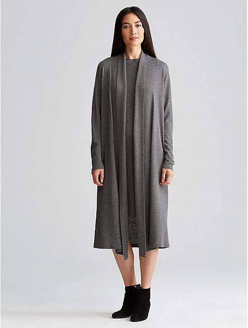 Icon Washable Wool Crepe Cardigan