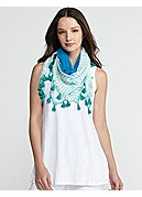 Scarf in Colorfield Shibori Silk Georgette