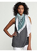 Square Scarf in Cotton Modal Ombre Weave