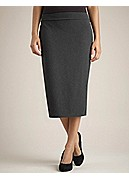 Foldover Straight Skirt in Cozy Viscose Stretch