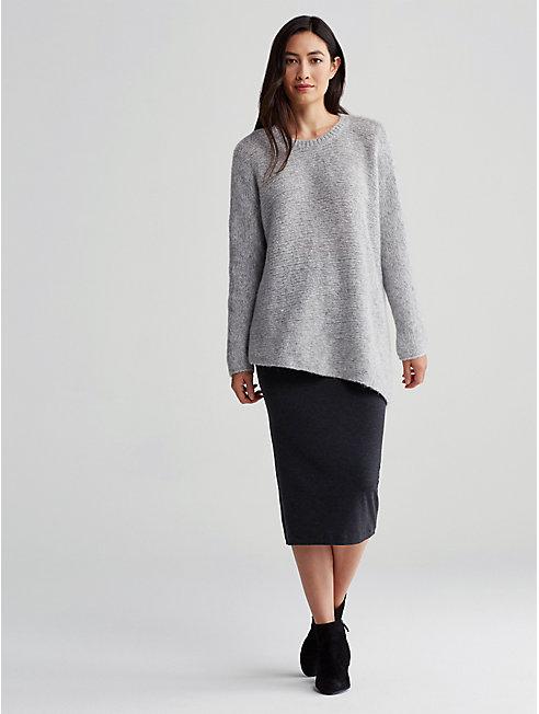 Cozy Wool Alpaca Asymmetrical Top