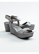 Shape Wedge Sandal in Italian Buffed Leather
