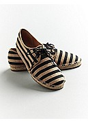 Step 2 Espadrille Flat in Striped Canvas
