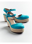 Form Wedge Espadrille in Italian Buffed Leather