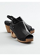 Whole Wedge Sandal in Italian Tumbled Leather