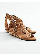 Echo Wedge Sandal in Italian Washed Leather