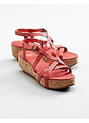 Array Wedge Sandal in Italian Leather