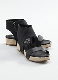 Slot Wedge Sandal