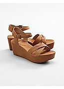 Match Wedge Sandal in Italian Washed Leather