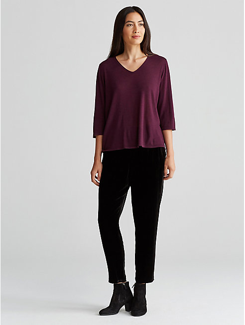 Featherweight Luxe Merino V-Neck Top