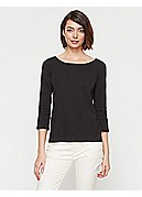 Ballet Neck Top in Cotton Interlock