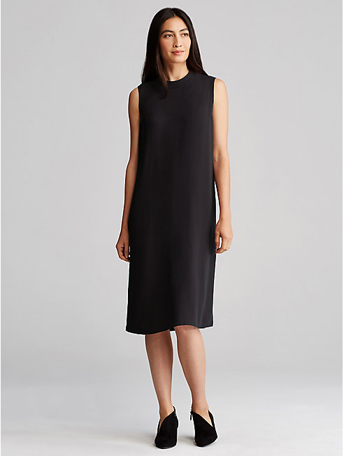 Bluesign® Certified Silk Mock Neck Dress