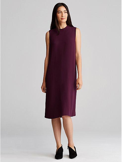 Bluesign® Certified Silk Mock Neck Dress