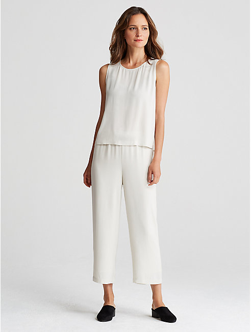 Bluesign® Certified Silk Straight Cropped Pant