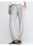 Ankle Pant in Silk Georgette Crepe
