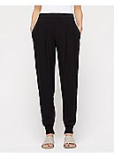 Plus Size Ankle Pant with Cuff in Silk Georgette Crepe