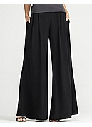 Plus Size Wide-Leg Pant in Silk Georgette Crepe