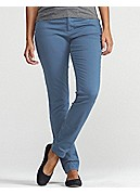 Plus Size 5-Pocket Lean Jean in Garment-Dyed Organic Cotton Stretch Twill