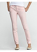 Petite Skinny Ankle Jean in Garment-Dyed Organic Cotton Stretch Twill
