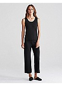 Petite Scoop Neck Tank in Stretch Silk Jersey