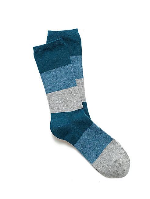 Cozy Viscose Color-Block Sock