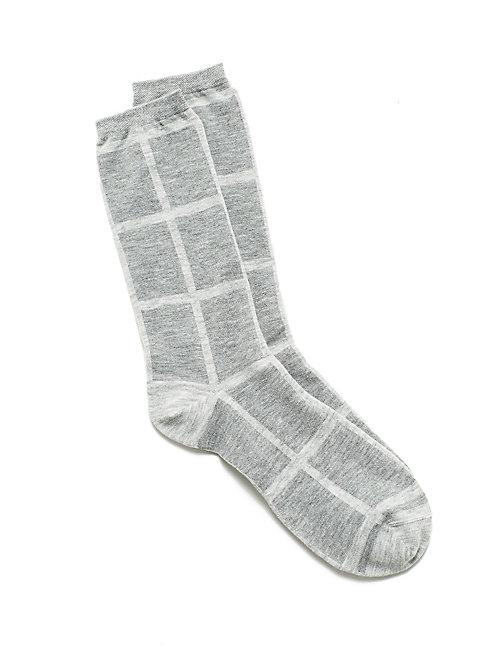 Cozy Viscose Windowpane Sock