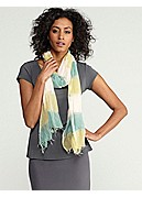 Scarf in Handloomed Ethiopian Airy Stripe