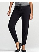 Slim Ankle Pant with Ankle Zip in Organic Stretch French Terry