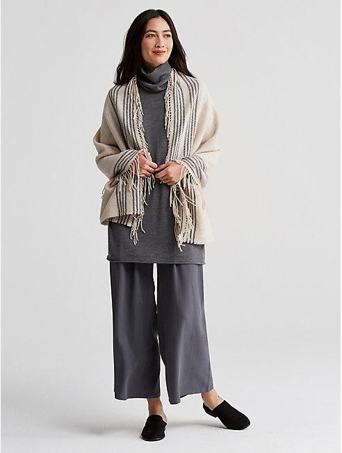 Trattino Wool Blend Wrap