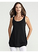 Plus Size U-Neck Tank in Linen Jersey