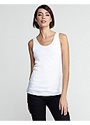 U-Neck Long Tank in Linen Jersey