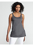 Scoop Neck Long Tunic in Linen Jersey
