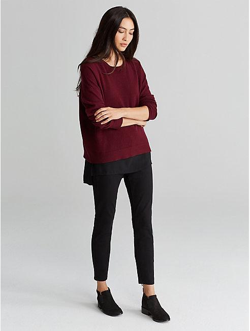 Doubleknit Slim Ankle Zip Pant
