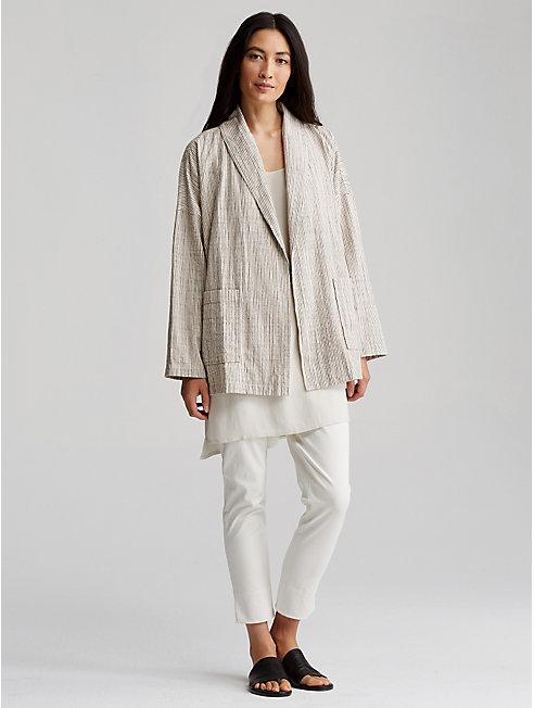 Cotton Stripe Kimono Jacket