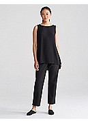 Plus Size Slim Ankle Pant with Side Zip in Organic Cotton Stretch Twill