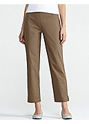 Petite Slim Ankle Pant with Side Zip in Organic Cotton Stretch Twill