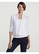 Cropped Boxy Cardigan in Fine Gauge Linen