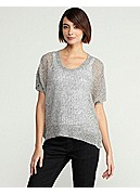 Scoop Neck Box-Top in Fine Gauge Linen Twist Stitch