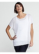 Scoop Neck Tunic in Lightweight Fine Gauge Linen