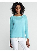 Bateau Neck Box-Top in Lightweight Linen Rib