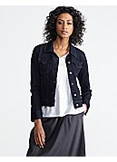 Cropped Jean Jacket in Organic Soft Stretch Denim