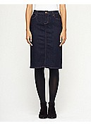 Knee-Length Skirt in Organic Soft Stretch Denim