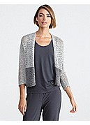 Straight 3/4-Sleeve Cardigan in Open Twist
