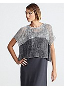 Bateau Neck Cropped Top in Open Twist