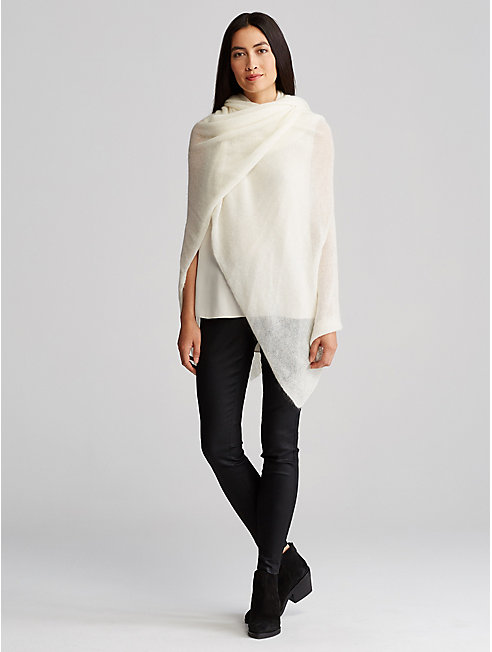 Airy Washed Mohair Serape