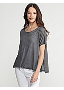 Scoop Neck Box-Top in Heathered Micromodal