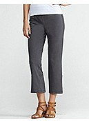 Petite Cropped Yoga Pant with Back Slits in Organic Cotton Stretch Jersey